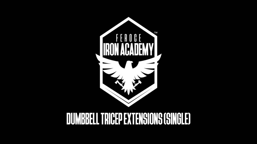 Dumbbell Tricep Extensions Single